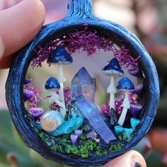How's everyone doing today? My shop Update with new creations is coming tomorrow This blue amanita magic portal with Aqua aura crystal is coming to shop Tomorrow at 3 pm pst✨ I think this blue portals are my most favorite so far☺️ There will also be one in green color coming soon. What do you think? Any other color preferences? There is also a brand new collection being designed right now that will blow your mind Sending my love to all☺️