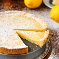 Simple Homemade Lemon Tart is a great citrus dessert made from scratch & using basic ingredients. It's a perfect baking project for kids as well!