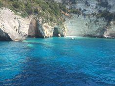 The Sea Caves of the Ionian Sea Greece Cruise, Greece Travel, Greece Food, Caves, Europe, Italy, Sea, Explore, Nature