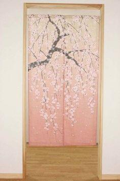 Charmant Noren Japanese Curtain Tapestry Interior Doorway Gradation Sakura Made In  Japan