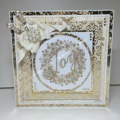 Joy wreath Diy Christmas Cards, Christmas 2017, Xmas Cards, All Things Christmas, Chloes Creative Cards, Stamps By Chloe, Birthday Cards, Card Making, Crafters Companion