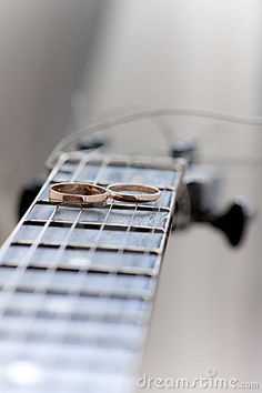 Photo idea - guitar wedding bands