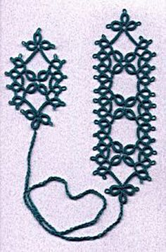 2 Shuttle Bookmark Tatting Pattern