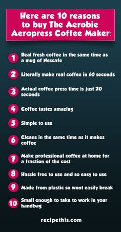 aerobie coffee maker list   Here are 10 reasons to buy the Aerobie Aeropress Coffee Maker