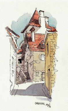 Carennac rue   by Cat Gout