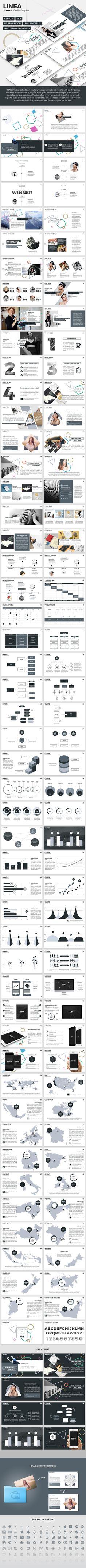 Linea - Creative Keynote Presentation Template. Download here: http://graphicriver.net/item/linea-creative-keynote-presentation-template/15713386?ref=ksioks