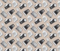 vintage camera fabric, wallpaper & gift wrap - Spoonflower