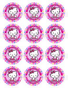 HELLO KITTY Digital Download 2.5 Inch by BirdhouseGiftGallery