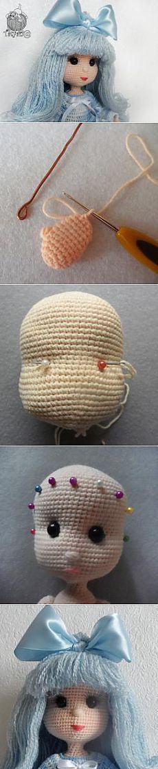 Мальвина. - МК по вязанию игрушек - Форум почитателей амигуруми (вязаной игрушки)