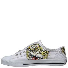 Ed Hardy Lowrise Bronx Shoe for Kids - White - Yvonne's Kid Shoes, Converse Chuck Taylor, High Top Sneakers, Fashion Shoes, Slip On, Blog, Kids, Shopping
