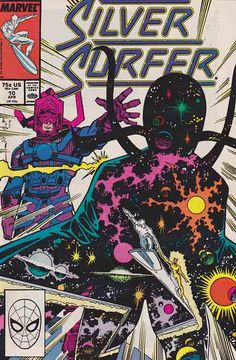 Silver Surfer V3 #10 Cover Art By Walter Simonson. Continued from last issue... Having failed to destroy Galactus, the Elders of the Universe: Grandmaster, Collector, Champion, Runner, and Gardener, are all consumed by Galactus for their failure.