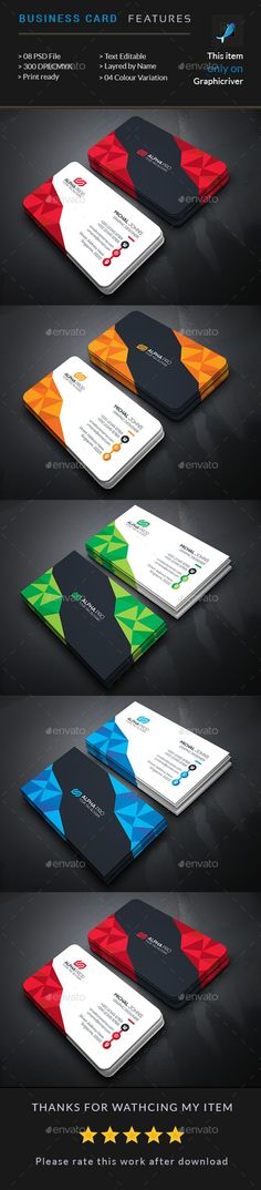 Business Card — Photoshop PSD #print #graphic • Available here → https://graphicriver.net/item/business-card-/15985667?ref=pxcr