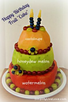 How To Make A Real Fruit Cake. How fun for a hot summer day!