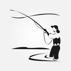 Fish Clipart, Silhouette Studio Designer Edition, Fishing Girls, Adobe Illustrator, Clip Art, Digital, Creative, Illustration, Etsy