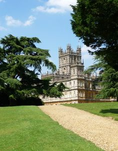 Highclere Castle pathway
