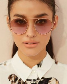 OMG I need these in every color 🌈✨🍒⚡🍭💫🎨 light lenses forever My Ex And Whys, Lisa Soberano, Round Sunglasses, Sunglasses Women, Filipina Beauty, Ombre Hair, Most Beautiful Women, Pretty Hairstyles, American Actress