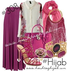 Hashtag Hijab Outfit #308 van hashtaghijab met metal jewelryWhite chiffon blouse€24 - amazon.comRiver Island purple maxi skirt€25 - riverisland.comSergio Rossi fuschia sandals€280 - shopbop.comMICHAEL Michael Kors top handle handbag€335 - farfetch.comMissoni metal jewelry€185 - yoox.comPRIVATE SUITE yellow gold jewelry€94 - zalando.co.ukNordstrom oversized scarve€28 - nordstrom.comPave jewelrypinterest.com