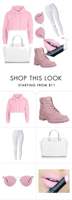 """""""#trip to the mall #fashsionista"""" by ionaloveme ❤ liked on Polyvore featuring Timberland, Michael Kors, Oliver Peoples and Fiebiger"""