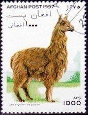 1997: Alpaca (Lama guanicoe pacos) (אפגניסטן) (Lamas and Camels) Mi:AF 1715,Yt:AF 1522