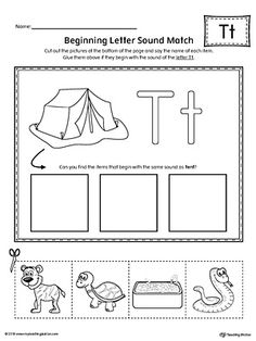 Letter T Beginning Sound Picture Match Worksheet Worksheet.In this worksheet, your child will match the picture that represents the beginning sound of the letter T with the correct letter shape.
