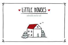 Little Houses ♥ Vector set by Zhe Vasylieva on @creativemarket