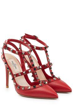 Stilettos Rockstud aus Leder | Valentino