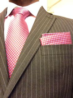 Pink and  Dark Grey Suit.......Dapper