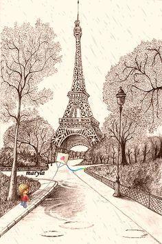 Paris Wallpaper on Pinterest | Paris Themed Bedrooms, Paris Themed ...