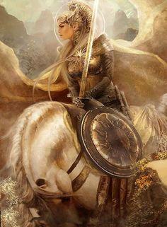 Valkyrie- Norse mythology, a valkyrie is one of a host of female figures who cho… Walküre – nordische Mythologie, eine Walküre ist eine von vielen [. Fantasy Warrior, Fantasy Life, Warrior Queen, Warrior Princess, Valkyrie Norse Mythology, German Mythology, Character Inspiration, Character Art, Fantasy Kunst