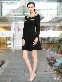 黒のロングスリーブは大人の魅力を引き出します☆ エレガントなパーティードレス♪ - ロングドレス・パーティードレスはGN|演奏会や結婚式に大活躍!