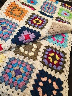 Afghan crochet blanket bedspread double single bedsize sofa | Etsy