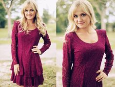Vintage 1980s Wine Purple Long Sleeve Lace by AppleBranchesVintage, $51.00