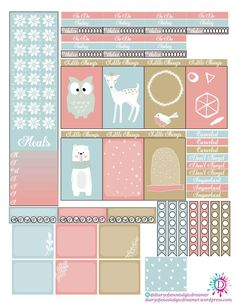 Fun comes in many colors in this Winter Blast Freebie Kit for Happy Planner.