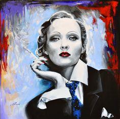 MARLENE DIETRICH - BLU ANGEL Riproduzione di opere d'arte, stampa le tue foto su tela