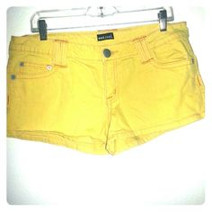 Wet Seal Yellow Shorts These are yellow denim shorts.  Very comfy and not too short. Wet Seal  Jeans