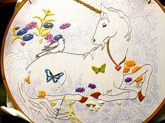 Unicorn Embroidery - kit 1970's by gingerbread_snowflakes, via Flickr