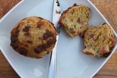 Yummy rhubarb muffins
