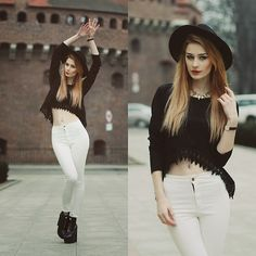 Katarzyna Konderak - Sheinside Pants, Oasap Top, Spylovebuy Heels, Hair - White pants.