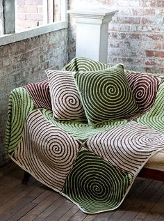 Vortex Throw & Pillows by Lisa Gentry