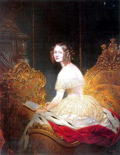 """Жозеф Кур """"Портрет Великої княгині Олени Павлівни"""", 1842"""