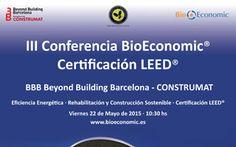 Cartel Conferencia Bioeconomic Certificación Leed Construmat