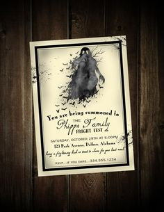 Masquerade halloween invitation masquerade costume party halloween halloween party invitation ghost halloween invitation halloween invitation fright night invitation digital stopboris Gallery