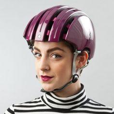 Carrera foldable bike helmet - gloss purple