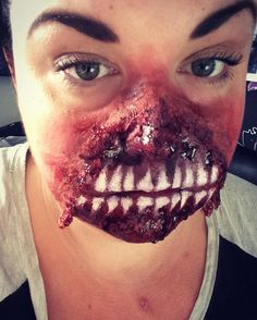 This scary look is done by Amy Murray. We loved it <3  #UK #hair #beauty #halloweeniscoming #halloween #makeup #BeAwesome