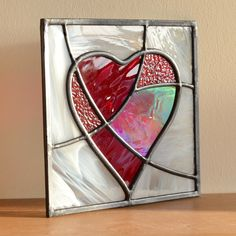 Beautiful mosaic glass heart - each one unique. Designed and made by Radiance Stained Glass.