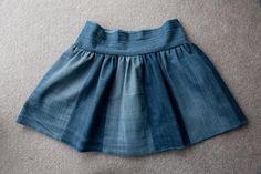 Детская юбка из старых джинс
