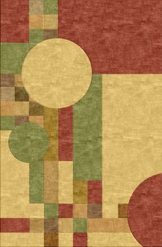 Frank Lloyd Wright Mission Style Inspired Rug