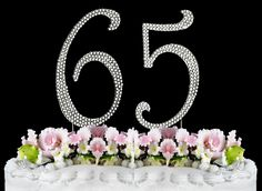 Rhinestone Cake Topper Number 65 ** Additional details at the pin image, click it @ : baking decorations