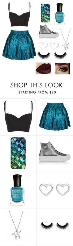 """""""mermaid style"""" by judeholden ❤ liked on Polyvore featuring interior, interiors, interior design, home, home decor, interior decorating, Wildfox, Casetify, Converse and Deborah Lippmann"""