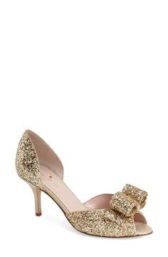 c35c97946a32 kate spade new york  sela  glitter bow peep toe pump (Women) -- wedding  shoes oh my gosh